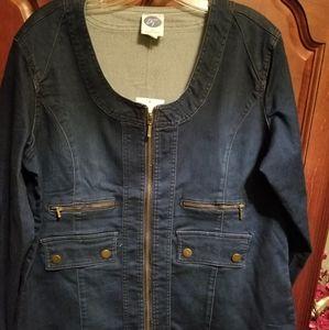 DG2 Diane Gilman denim jacket